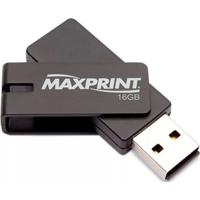 Pen Drive Maxprint Twist 16Gb Preto