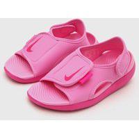Sandália Nike Infantil Logo Rosa