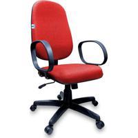Cadeira Presidente Operativa Com Lâmina Vermelho