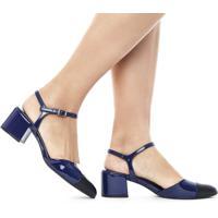 Sapato Amalía Verniz Azul