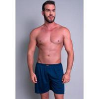 Short Pijama Curto Mvb Modas Masculino - Masculino-Azul