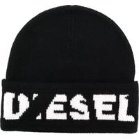 Diesel Gorro Com Logo - Preto