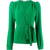 P.A.R.O.S.H. Blusa Com Amarração Na Cintura - Verde