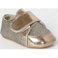 Tênis Com Velcro- Cobre & Douradatico Baby