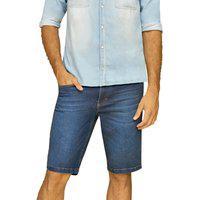 Bermuda Riccieri Regular Alta Jeans