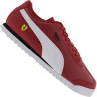 Tênis Puma Scuderia Ferrari Roma - Masculino - Vermelho/Branco