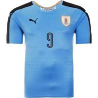 Camisa Puma Uruguai Home 2016 N°9 L. Suárez Masculina - Masculino
