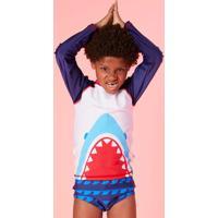Camiseta Teen Tubarão Com Proteção Uv Fps 50 Puket