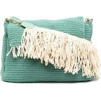 La Milanesa Braided Cotton Cross Body Bag - Verde