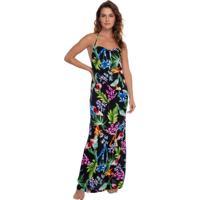 Vestido Estampado Floral Preto | 595.757