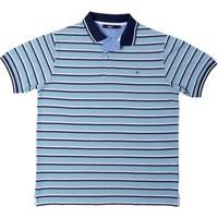 Camisa Polo Listrada Azul Claro P