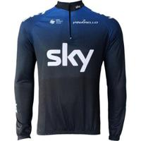 Camisa Ciclismo Manga Longa Pro Tour Sky Masculina - Masculino