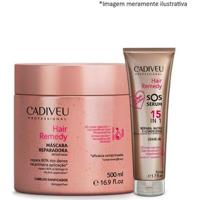 Cadiveu Hair Remedy Máscara Reparadora + Sos Serum Leave-In - Feminino-Incolor