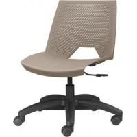 Cadeira Strike Assento Bege Base Rodizio Preta - 54074 - Sun House