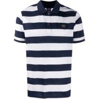 Paul & Shark Striped Polo Shirt - Azul