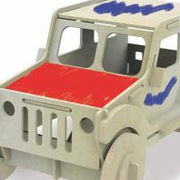 Quebra Cabeça Carrinho Para Pintura 3D - Xalingo - Kanui