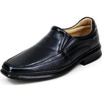 Sapato Social Mafisa Confort De Elástico Em Gel Preto