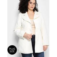 Casaco Facinelli Plus Size Feminino - Feminino-Off White