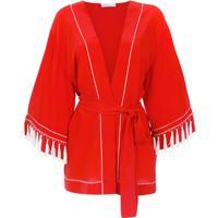 Nk Kimono De Seda - Vermelho