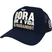 Boné Bora Trucker Marinho - Masculino-Azul