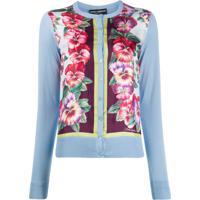 Dolce & Gabbana Cardigan Com Estampa De Hibisco - Azul