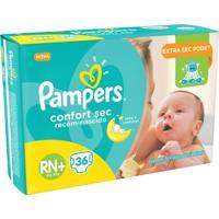 Fralda Pampers Confort Sec Rn Plus 36 Tiras - Unissex