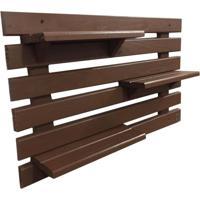 Floreira Vertical Madeira Alce Couch Vaso Parede Marrom 60Cm - Marrom - Dafiti