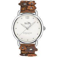 Relógio Coach Feminino Couro Marrom - 14502744