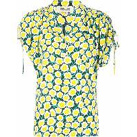 Dvf Diane Von Furstenberg Blusa Daica Com Franzido Nos Ombros - Amarelo