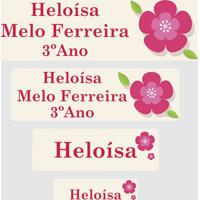 Etiqueta Escolar Flor