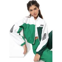 Jaqueta Cropped Adidas Originals Track Verde/Branca