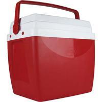 Caixa Térmica Mor 26 Litros, Vermelha