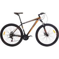 Bicicleta Mobele Mtb Aro 29 21V Alumínio Quadro 17 Câmbio Shimano Rhino Laranja