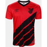 Camisa Athletico Paranaense I 19/20 S/Nº Torcedor Umbro Masculina - Masculino