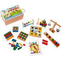 Jogo Educativo Maleta Pedagógica Carlu Com 10 Jogos Caixa Mdf
