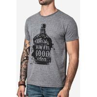 Camiseta Hermoso Compadre Whisky Masculina - Masculino-Cinza