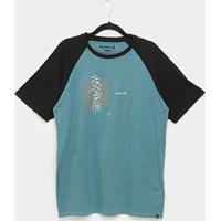 Camiseta Hurley Box Masculina - Masculino-Azul Escuro