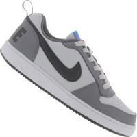 Tênis Nike Court Borough Low - Infantil - Cinza Cla/Cinza Esc