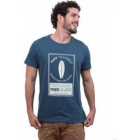 Camiseta Limits Fio Tinto Lagoa Searching Rj Masculina - Masculino-Azul