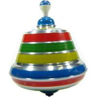 Pião Sonoro De Metal Multicolorido