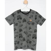 Camiseta Carros- Cinza Escuro & Pretaoliver