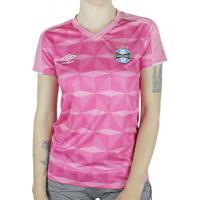 Camisa Feminina Umbro Grêmio Outubro Rosa 2019