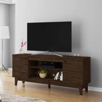 Rack Para Tv Até 60 Polegadas 2 Portas 1.6 Retrô Malibu Móveis Germai Rustic/Capuccino