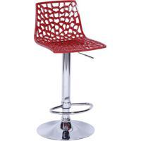 Banqueta Spider- Vermelho Escuro & Prateada- 102X34Xor Design