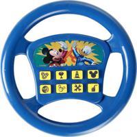 Volante Musical Mickey®- Azul & Amarelo- Ø19X3,5Cm