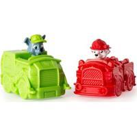 Mini Veículos - Patrulha Canina - Pack Com 2 Carrinhos - Marshall E Rocky - Sunny - Masculino-Incolor