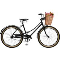 Bicicleta Master Bike Bella Retrô - Aro 26 - Freios V-Brake Em Alumínio - Feminina - Preto