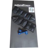 Kit Musculação Fitness Halter Colchonete Caneleira Peso Dvd - Unissex