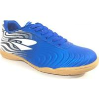 438cb97cb5e3d ... Chuteira Infantil Futsal Dray Topfly X2 - Unissex-Azul+Branco
