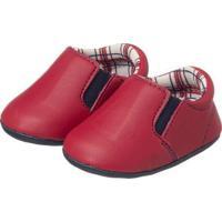 Sapatinho Bebê Iate Plis Calçados Masculino - Masculino-Vermelho
